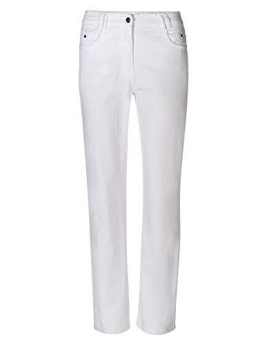 Bexleys woman by Adler Mode Damen Hose Sandra auch in Kurzgrößen erhältlich Weiß 42 -