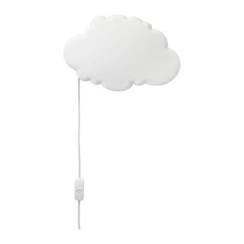 """IKEA Dekolampe """"Drömsyn"""" Wand-Leuchte in Wolkenform - 31 x 21 cm - weiß - weiches Stimmungslicht"""