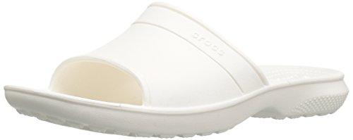 crocs Unisex-Erwachsene Classicslide Pantoffeln, Weiß (White), 38-39 EU