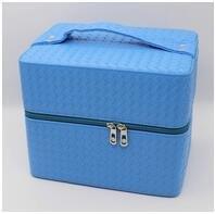 LDMB Damen-handtaschen Multilayer-Square kosmetische Paket Einbeziehung Kosmetiketui Blue