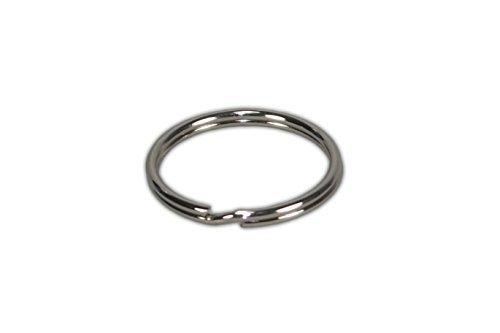 Ge-gra Muster GmbH Lot de 100 anneaux de porte-clés en acier nickelé durci de fabrication allemande