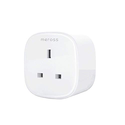 Smart WiFi Plug Wireless Socket with Energy Monitor Remote Control Voice  Control with Meross App Compatible with Amazon Alexa Google Assistant and