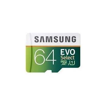 Samsung 64Go 80Mo/s Evo Select Carte mémoire Micro SDXC (Mb-me64da/AM)