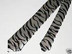 Zebra Herren Krawatte Gr. onesize, Schwarz - Black, White