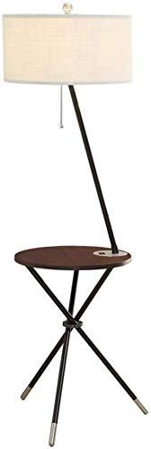 MY1MEY Standleuchte Home mall- Eisen Stehlampe | Moderne Minimalistische Stehleuchte Mit Kleinem Tisch und USB - Schnittstelle | für Wohnzimmer Schlafzimmer Arbeitszimmer 43X147cm
