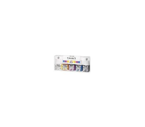 Pébéo Tinte Wasserfarben colorex Box mit 5Flaschen von 45ml, verschiedene Farben