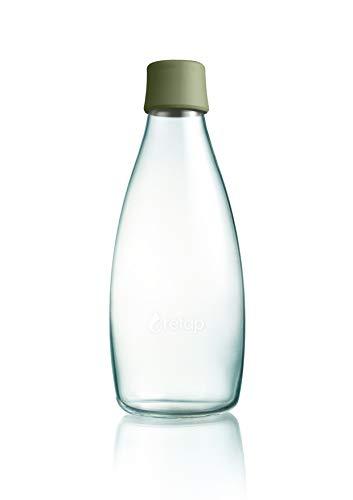 Retap BRP08-LAG 0,8 Glas Wasserflasche (Glas Trinkflasche Retap)