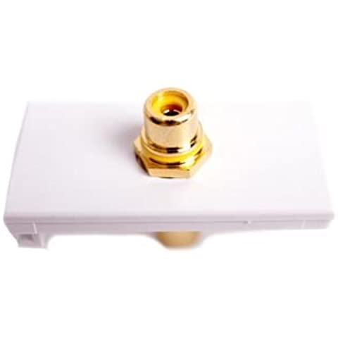 Módulo de Euro Y RCA. Acoplador amarillo módulo de blanco. Vídeo compuesto. 25 mm x 50 mm de Audio Modular