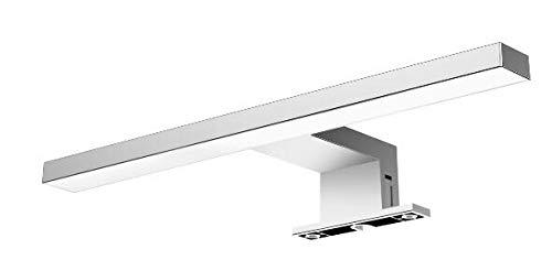 Solupa - lampada applique led da specchio per bagno fortuna - driver integrato - abs - ip44-30 x 10 x 4.50 cm / 4.8 w / 300 lm/luce fredda