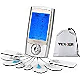 TENKER EMS TENS Unit Rechargeable Muscle Stimulator Pain Reliever for Muscle Stiffness, Soreness