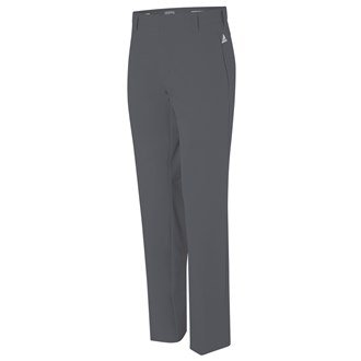 2015 Adidas Puremotion Stretch 3-Stripes Pants Mens Golf Flat Front Trousers Vista Grey/White 38x32