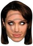 Unbekannt Angelina Jolie Celebrity Cardboard Mask-Single (Maske/Maske)