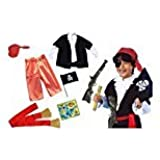 Fancy Steps Kids Boys Pirate Costumes With Accessories | Cosplay Costumes For Boys |halloween Cosplay Costumes For Kids | Children Cosplay Girl Costumes | Fancy Dress Costume | Kindergarden | Fancy Dress Shop | Baby Show Event (Accessories - Pirate Eye Pa