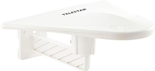 Telestar 5102220 ANTENNA 10 aktive Aussenantenne (DVB-T/DVB-T2, FullHD, Verstärkung: 51 dB, LTE Filter) weiss Digital Outdoor Tv