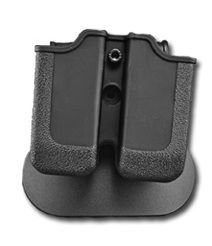 RUGER P89-P95 SERIES (9/40) Double Paddle Mag Pouch Black Rotates 360 degrees durable polymer made by IMI Israel (Ruger Mag)