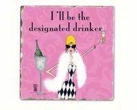 Designated Drinker Einzel Tumbled Tile Coaster (Designated Drinker)