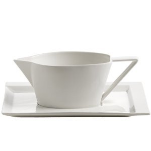 Maxwell & Williams rp41760Salsiera con piattino, Porcellana, Bianco, 11.4x 35.6x 55.2cm, 2unità