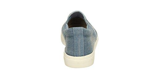 Daisy da donna in Denim da donna, a punta-Scarpe da ginnastica Plimsolls da donna, misura 36-41, SWANKYSWANS Light Blue