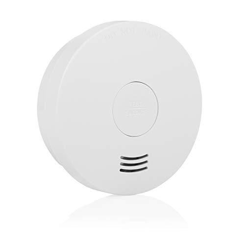 Smartwares 10-Jahres-Rauchwarnmelder mit VDs/Q-Label, FSM-124, Weiß