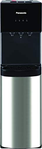 Panasonic 3 Tap Bottom Loading Water Dispenser, Black/Silver - SDMWD3438BG, 1 Year Warranty
