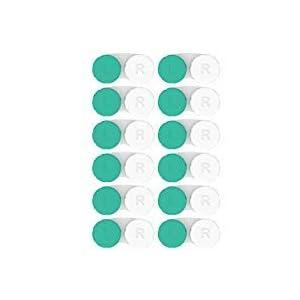 Kontaktlinsenbehälter 12 Pack. Jahresvorrat. 2018 Verbessertes Design/Qualität. CE/FDA Zugelassen