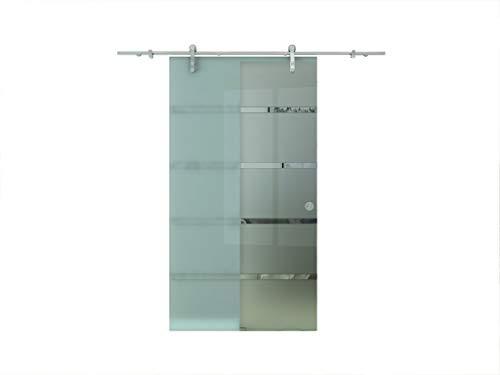 Scorrevole in vetro Porta scorrevole in vetro Porta a vetri Satinato 1025 x 2050 mm