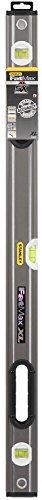 Stanley 0-43-636 FatMax Wasserwaage Pro (90 cm Länge, horizontale/vertikale Libelle, Schutzkappen, Bi-Material Handgriff)