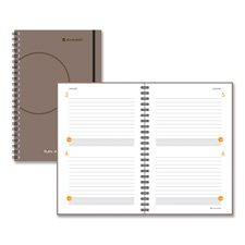 TWO-DAYS-PER-PAGE PLANNING NOTEBOOK, GRAY, 6