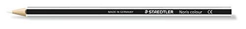 Staedtler 185-0 Buntstifte Noris Colour, Set mit 12 Buntstiften In Weiß, Erhöhte...