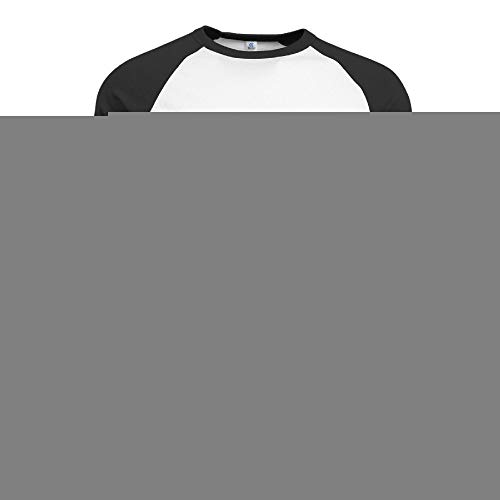 HSOAA Baseball Shirt Herren Men's Wendys Logo 3/4 Sleeve 100% Cotton Baseball Tee/T Shirts -