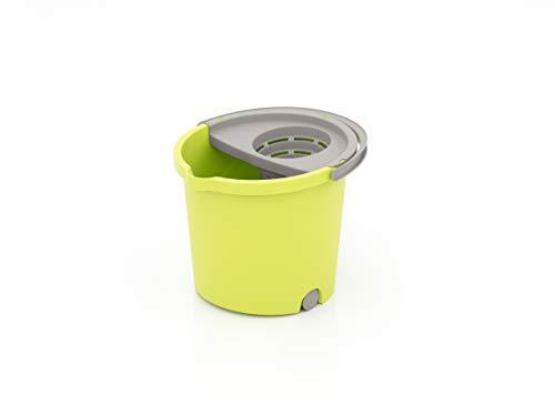 SMART-T-HAUS Cubo con Escurridor Y Mini Ruedas
