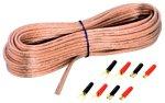 Sinuslive 2X 2,5mm² Lautsprecherkabel 10m mit Anschluss-Stecker