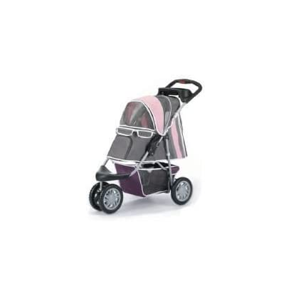 Pet Stroller,IPS-09,Pink/Grey, Dog carrier, trolley, Trailer, Innopet, Buggy First Class. Fold able pet buggy, pushchair… 1
