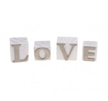 Vintage Style Cube Word - LOVE - Wooden Blocks - Wedding D??cor