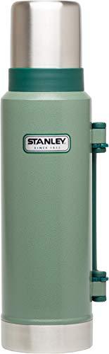 Stanley Vakuum-Thermoskanne, 1.3 Liter, Hammertone Green, 18/8 Stainless Edelstahl, Integrierter Thermobecher, Doppelwandige Isolierung Isolierflasche Isolierkanne Kaffeekanne -