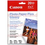 Canon PP-101 Fotopapier Plus glänzend 5x7 20 Blatt (Fotopapier 5x7 Glänzend)