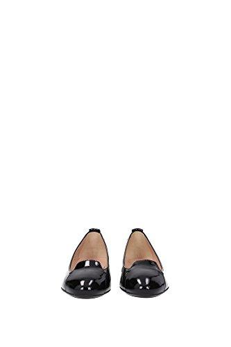 XXW0UK0L340OW0B999 Tod's Ballerine Femme Cuir Verni Noir Noir