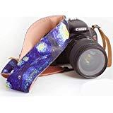 Van Gogh Starry Night kameragurt - universal DSLR kameragurt, Hals schulterkamera gürtel für Canon, Nikon, Sony, fujifilm und digitalkamera - künstlerisches & dynamisches Design Fotografie Geschenk