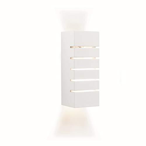 Wandleuchte in Weiß Bauhausstil 1xE14 bis zu 40 Watt 230V aus Gips/Keramik & Schlafzimmer Küche...