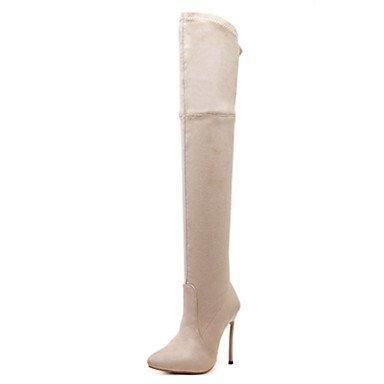 RTRY Scarpe Da Donna In Pelle Nubuck Autunno Inverno Comfort Novità Moda Stivali Stivali Stiletto Heel Punta Stivali Thigh-High Zipper Per Office US8 / EU39 / UK6 / CN39