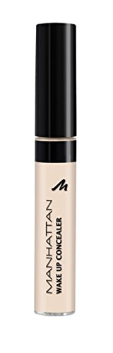MANHATTAN Wake up Concealer, Farbe 1 Naturelle, für helle Hauttypen, 1er Pack (1 x 7 ml)