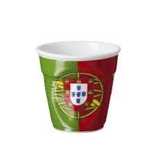 6 tasses froissées expresso drapeau portugal Revol 8 cl