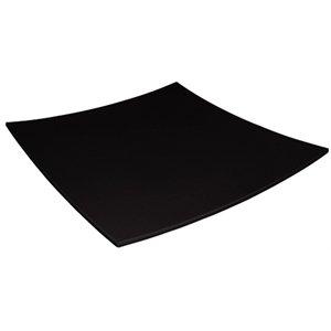 Kristallon Dp142 courbé carré Assiette en mélamine, 300 mm, Noir