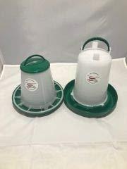Kleintierzuchtbedarf at Österreich 1 Kg Wachtelfutterautomat und 1,5 Liter Wachteltränke Kückentränke Wachteltrog Wachtel Futterautomat grün