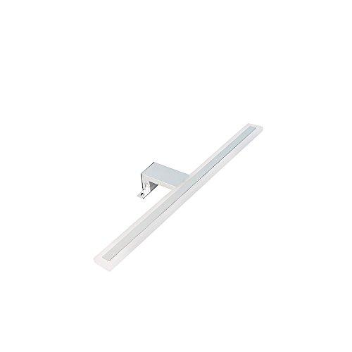 Emuca 5071611 LED-Leuchte für Badezimmerspiegel 7W L [Energieeffizienzklasse A+] , 7 W, Verchromt, L 300mm