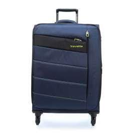 Travelite Valise à Roulette Kite avec 4 Roues, 75 cm, 95 L, Bleu Marine