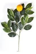 Kunstblumen, Zweig mit grosse künstliche Orangenbaum, h 60 cm, 24 Blatt)