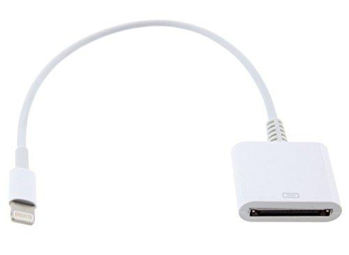 iPrime 30 zu 8 Pin Adapter mit Kabel zum Aufladen [KEIN Audio] kompatibel mit iPhone, iPad - Weiß (8-pin-docking-station Ipod)