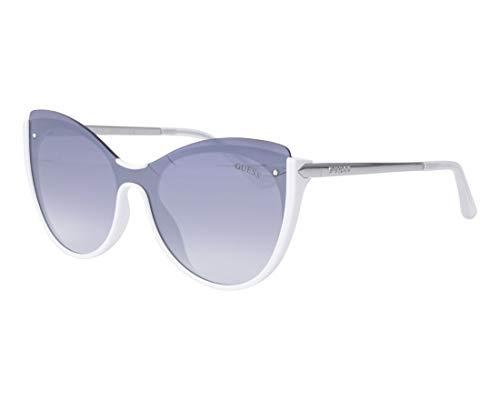 Guess Unisex-Erwachsene GU7569 21C 00 Sonnenbrille, Weiß (Bianco/Fumo Specchiato), 0