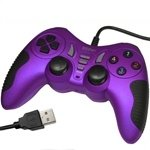 Generic USB 12 Button Double Shock Game Pad, Plug and Play(Purple)